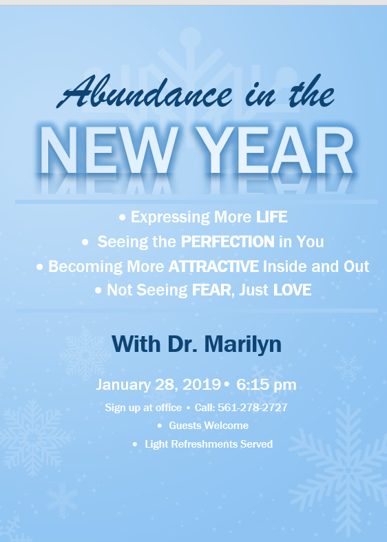 Dr. Talk - Abundance in the New Year @ Shore Chiropractic - Office